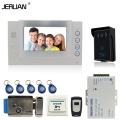 JERUAN 7 inch video door phone intercom system video recording photo taking REID Access Waterproof Camera +Electric Lock