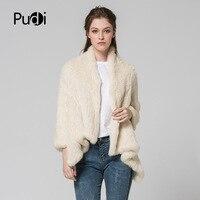 CT7046 натуральный мех кролика пальто для женщин девочек Теплый природный натуральный мех длинная куртка пальто