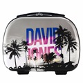 DAVIDJONES women Cosmetic case for travel large capacity ladies pattern print make-up bag