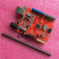 One set New 2016 - UNO R3 ATmega328P/CH340G MicroUSB. Compatible for Arduino UNO Rev 3.0 (hong)