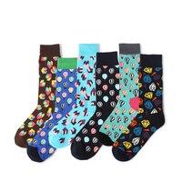VVQI 2018 Men Funny Socks Cotton Hip Hop Hot Air Balloon Harajuku Fashion Dress Art Socks