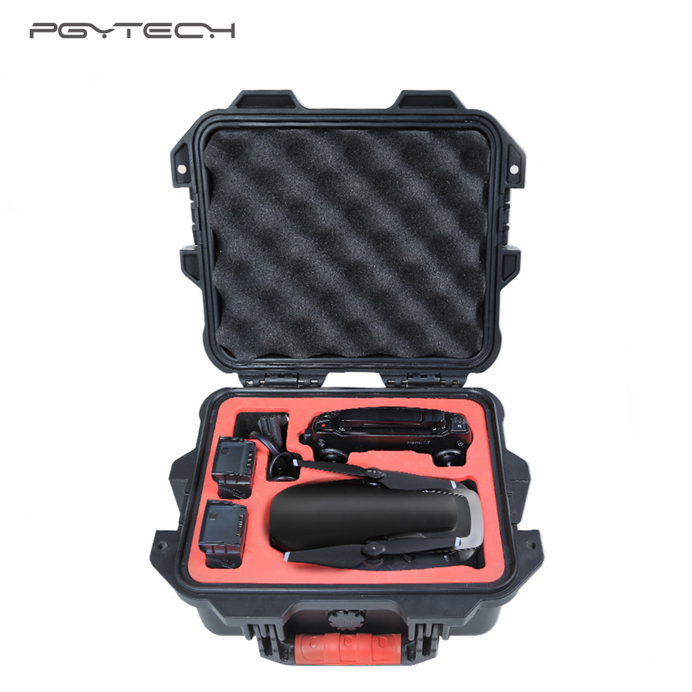 все цены на PGYTECH DJI Mavic Air Case Bag Mini Safety Case Waterproof Hard EVA Foam Carrying Bag for DJI Maivc Air Box Drone Accessories