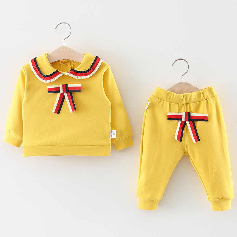 9a83ccb88ecf0 Girls kids clothing Set 2018 New Korean Fashion Tracksuit Child Navy Style  2 pieces Suit Teenage School Spring Fall Clothes 3yrs