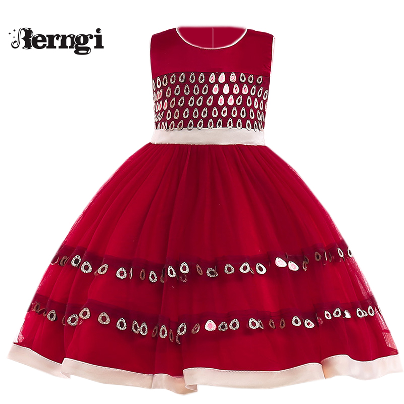 Berng New Color Baby Girls Princess Dress Toddlers Girls Lace Dress Birthday Party Infant Kids Gift Clothes Tutu Girl Vestido