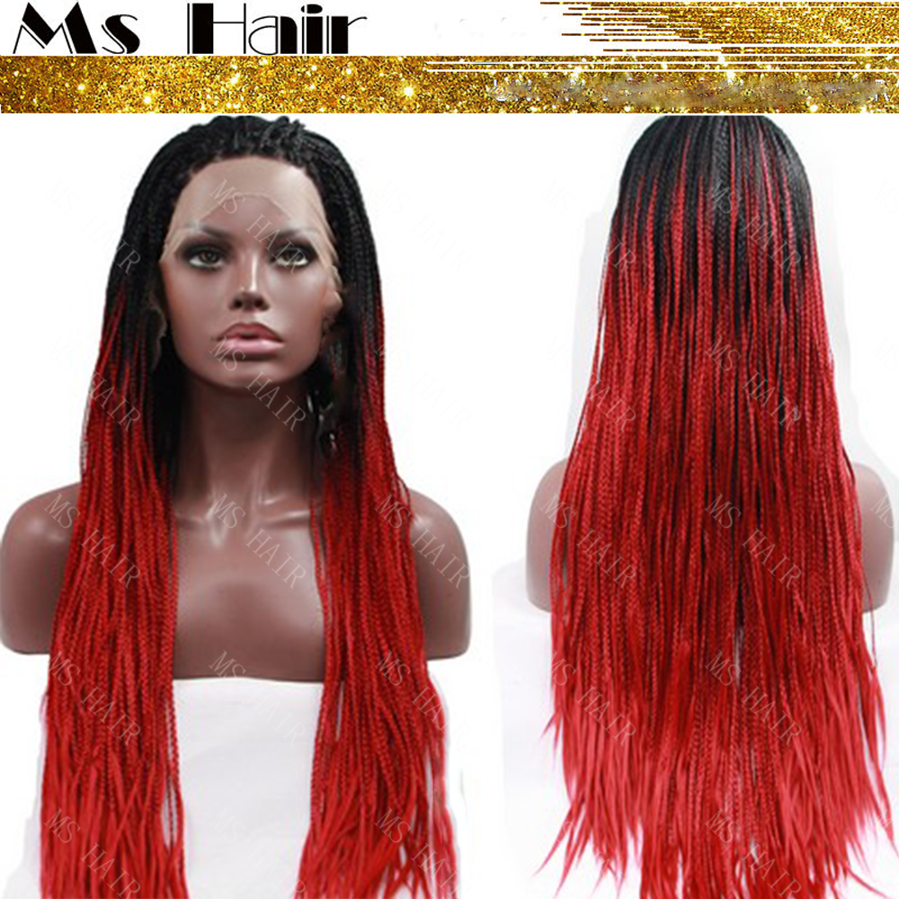 Crochet Box Braids Red : Red Box Braids Wig Reviews - Online Shopping Red Box Braids Wig ...