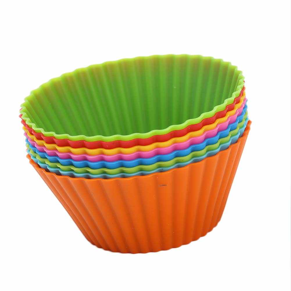 3D Cake Cup Silicone Muffin Cupcake Paper Mold Baking Tools Cake Decorating Tools For Bakeware Fondant Molds