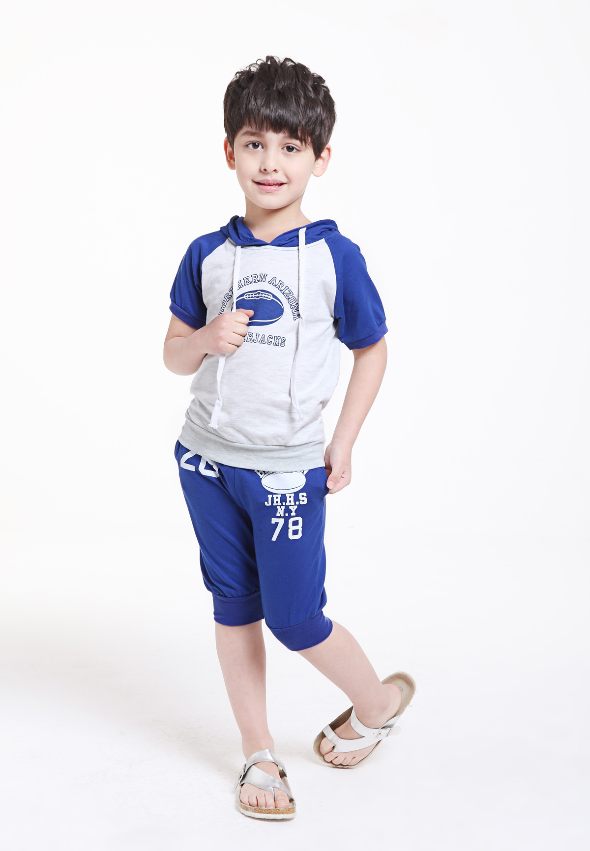 Fashion Baby Boys Kids Baby Clothes 2 Piece Set Summer Tops and Half