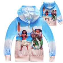 Hot sell 2019 Moana Hoodies Baby Outerwear Kids Clothes Girls Coat Boys Children Clothing Child Costume
