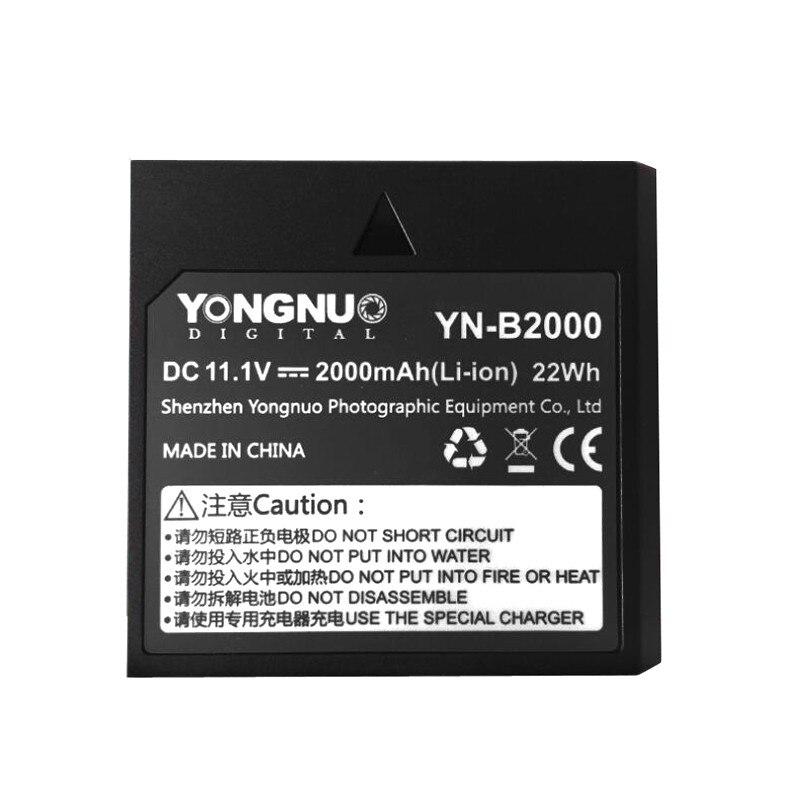 Yongnuo YN-B2000 2000 мАч запасных Перезаряжаемые литий-ионный Батарея для ttl Беспроводной Speedlite YN686EX-RT и ручной Speedlite YN720