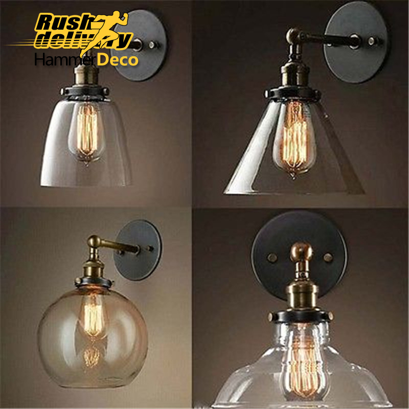 Light bulb pendant light copper glass restaurant pendant light single pendant light vintage retractable wall lamp american style light bulb pendant light copper glass restaurant pendant light single pendant light vintage retro abajur american style 2016 new