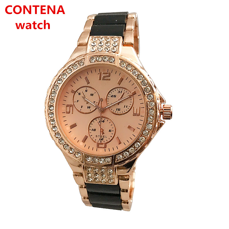 Reloj Mujer CONTENA Fashion Wrist Watch Women Watches Ladies Top Brand Famous Crystal Watch Female Clock Saat Relogio Feminino contena luxury gold watch women watches fashion women s watches ladies watch saat reloj mujer relogio feminino