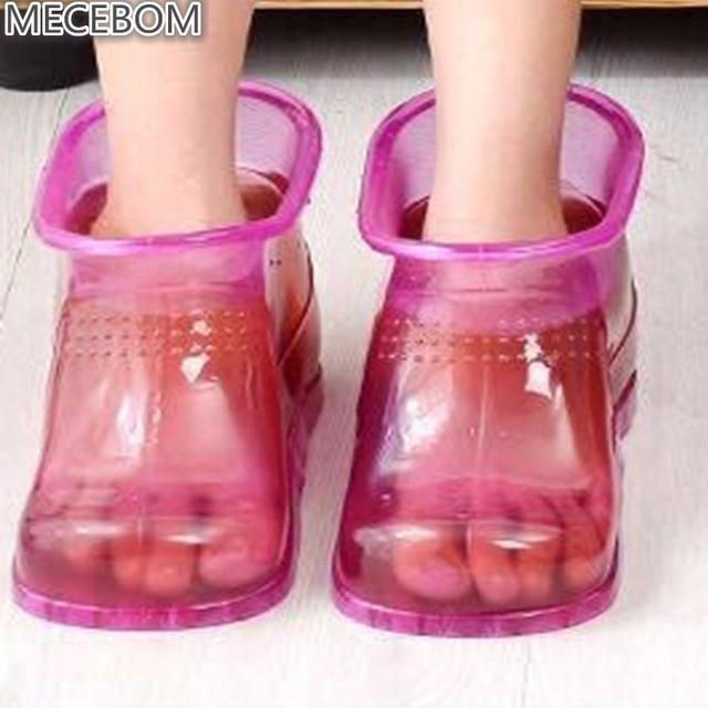 Women 발 흡수하여 수거 욕 Theorapy 마사지 여유로움 Boots 발목 고무 경혈 솔 홈 발 Care 핫 물 Zapatos Mujer PJ1W