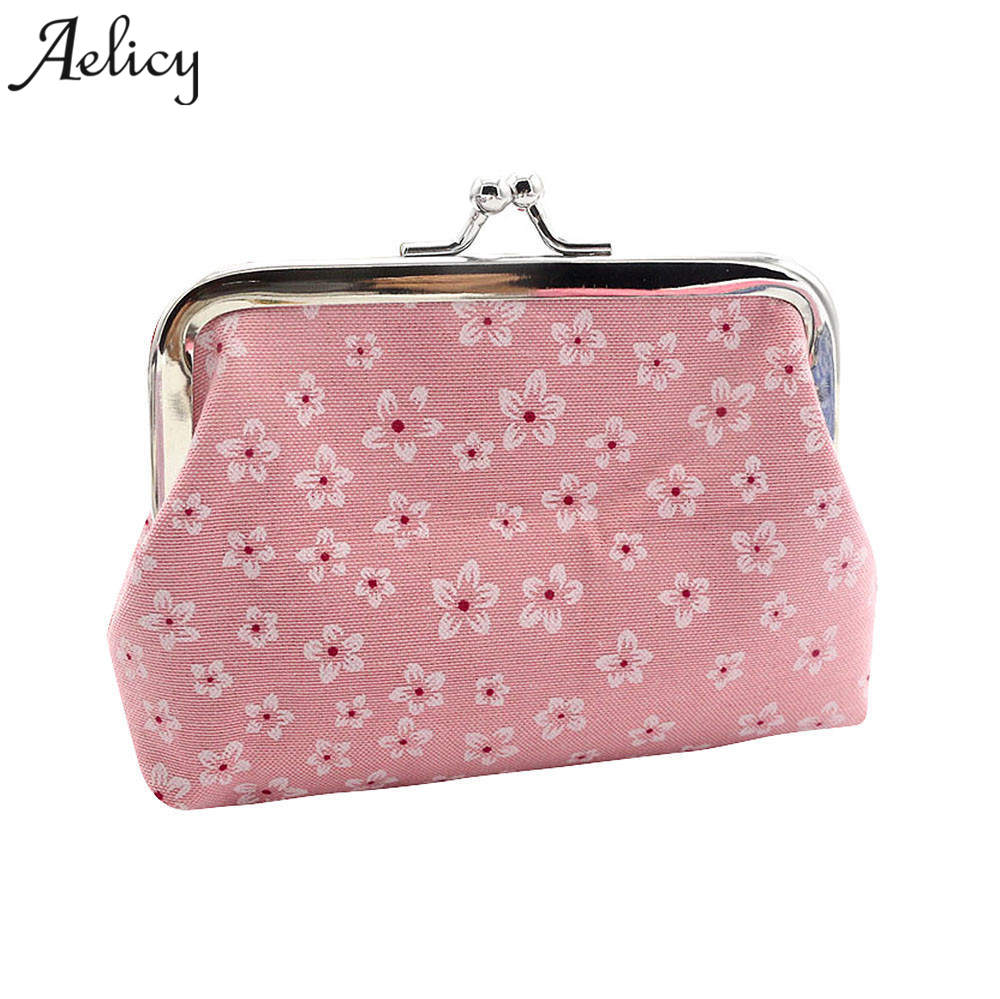 Aelicy Flower pattern Retro Wallet Female Purse Bag Women Wallets and Purses Vintage Short Wallets Coin Purse Women Small Wallet