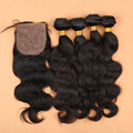 Brazilian Virgin Hair Body Wave Silk Base Lace Frontal Closure With Bundles 4*4 Silk Base Closure With Bundles