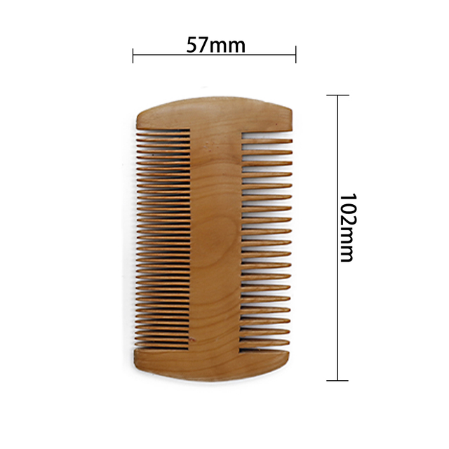 Ring Boar Bristle Beard Brush & Wooden Grooming Comb Mustache Shaving Brush Beard Comb Kit Facial Care Kit Gift For Men 1