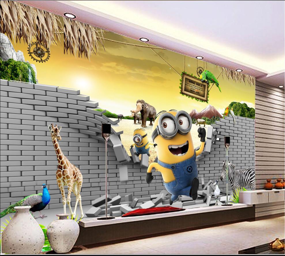 Minions Bedroom Wallpaper Popular Minion Wallpaper Buy Cheap Minion Wallpaper Lots From