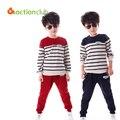 Conjunto de roupas infantis de alta qualidade longo-luva crianças conjuntos de roupas 2016 algodão bebê menino roupas de outono esportes casuais conjunto KS226