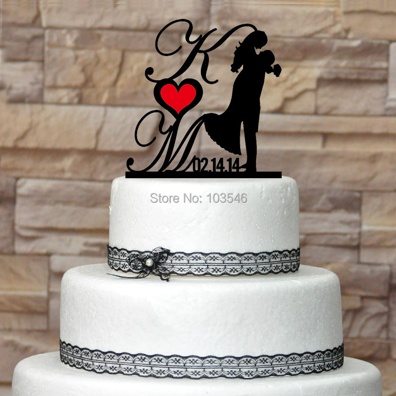 personalised wedding cake toppers cheap custom cake topper and bridegroom with 18249
