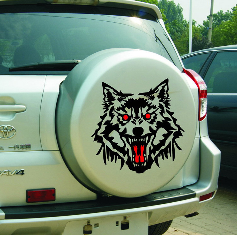 10pcs/set Hot Sale fashion Beauty Creative Personality Cool Styling Hood Animal Wolf Body Monster Sticker DECALS
