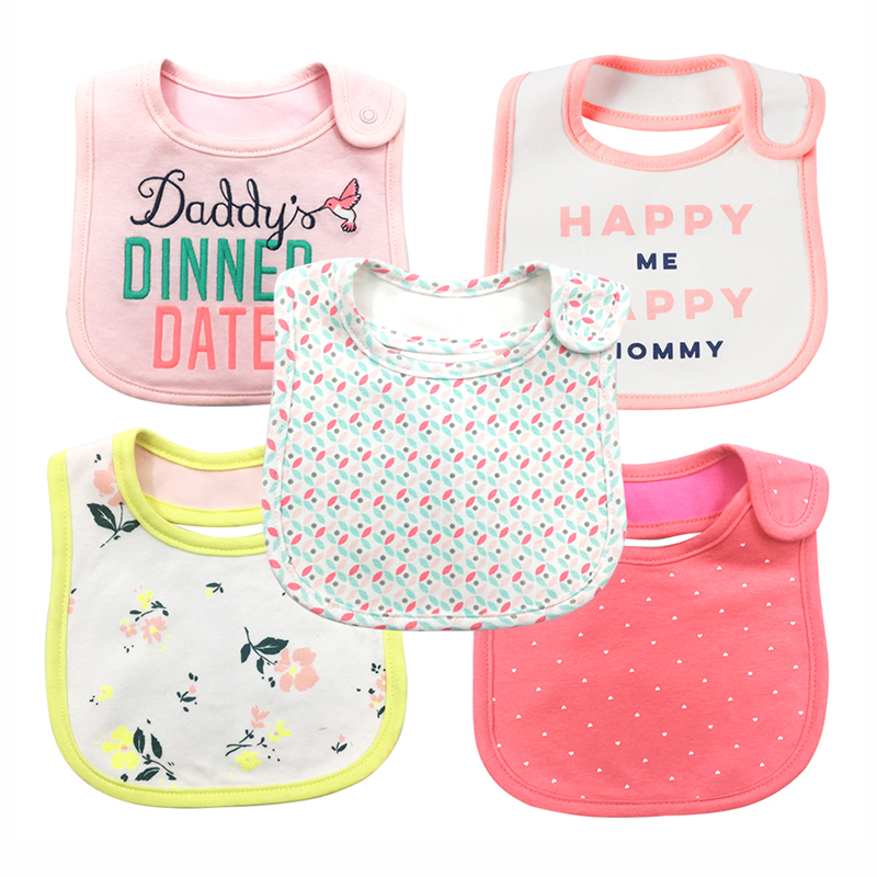 newborn bibs triangle double layers Cartoon 100%Cotton Breathable Fit 0-3 Years Absorbent Cloth babador baby bandana Baby bibs