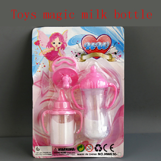 Doll accessories play house toys, toy bottle upside down and become less milk bottle magic play toys сборная снего песочная лопатка 70 см