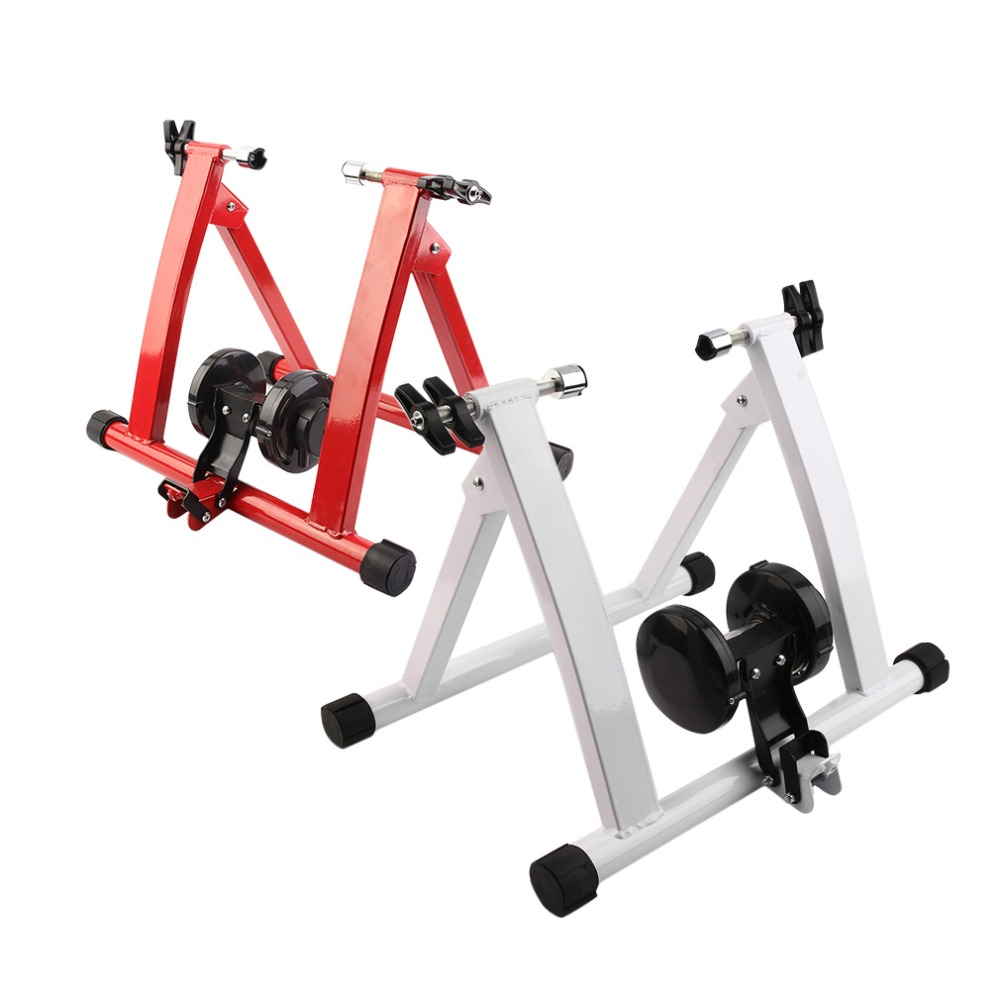 (RU) Top Steel Cycling Mountain Biking Indoor Training Station Road Bicycle Parking Station Bike Indoor Exercise Trainer Stand rockbros bicycle trainer roller training tool road bike exercise fitness station mtb bike trainer tool station 3 stage folding