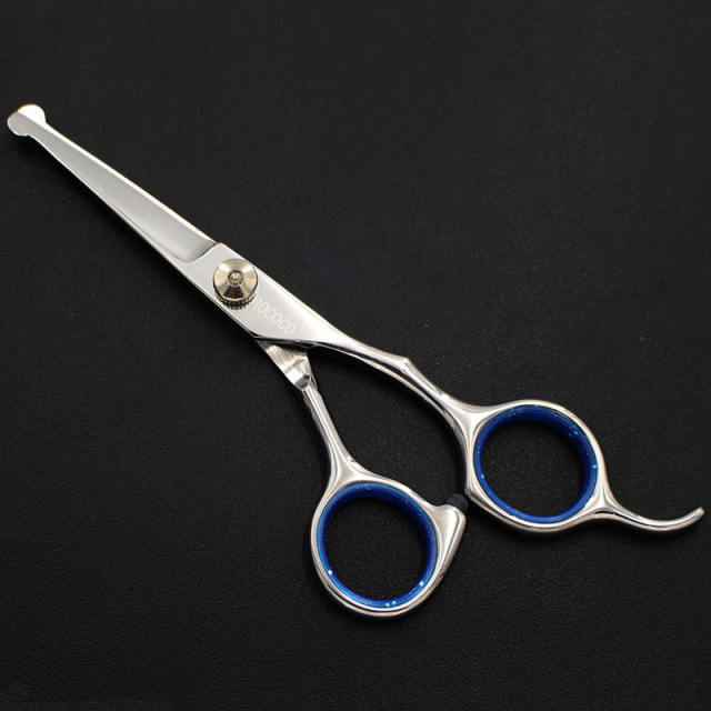 6.5inch Professional Pet Grooming Scissors Set Round Tip Safety Dog Shears Hair Cutting Thinning Curved Scissors with Comb Case