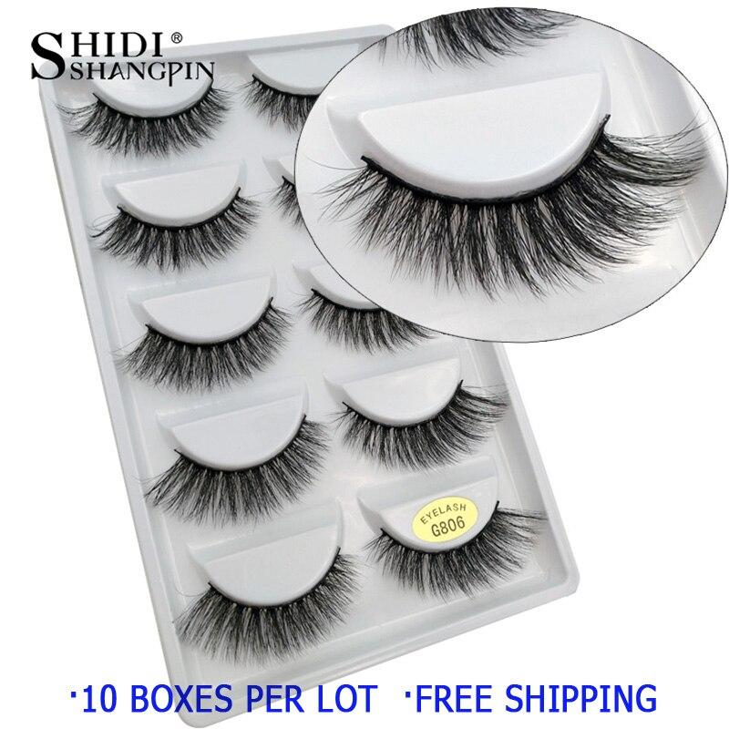 Image 3 - 50 pairs Wholesale Eyelashes Natural Mink Eyelashes False Eye Lashes Mink Lashes Fake Eyelash Extensions maquiagem faux cilsFalse Eyelashes   -