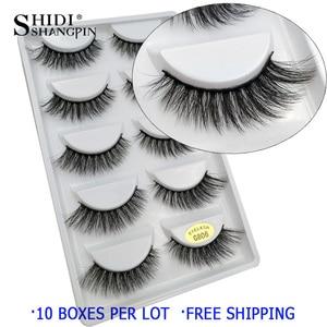 Image 4 - 50 pairs Wholesale Eyelashes Natural Mink Eyelashes False Eye Lashes Mink Lashes Fake Eyelash Extensions maquiagem faux cils