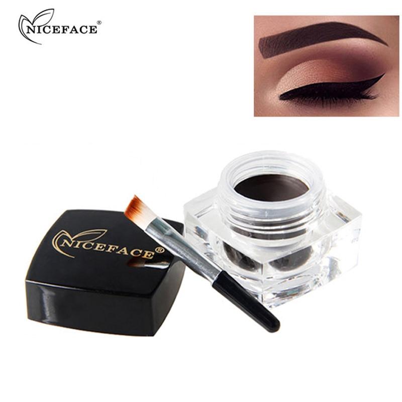 Niceface Eye Brow Waterproof Eyebrow Makeup Black Brown Color Long Lasting Eyebrow Tint Gel Natural Enhancers Cream Cosmetics