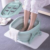 SAFEBET Creative Footbath Roller Massage Foot Washbasin Folding Foot Bath Tub Travel Portable Bathtubs Bathroom Accessories