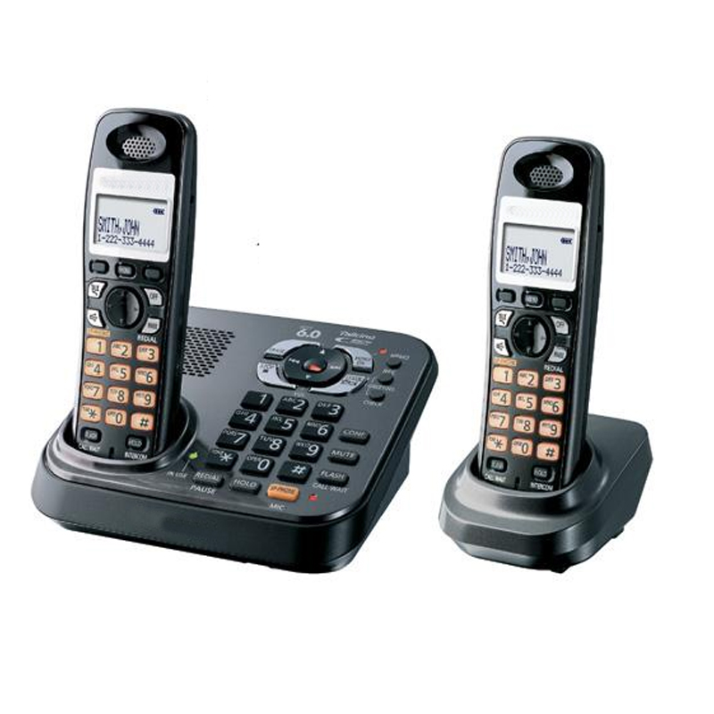Digital CordlessEnglish Phone With Answer Systerm Handfree Call ID Wireless Cordless Fixed Landline Telephone For Office Home wireless retro telephone handset and wire radiation proof handset receivers headphones for a mobile phone with comfortable call