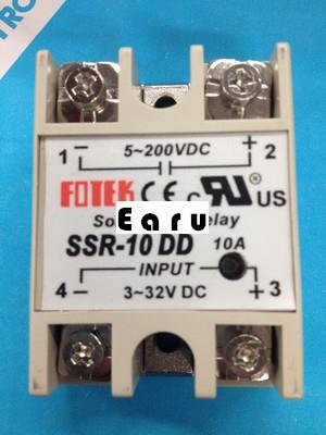 1 pcs solid state relay SSR-10DD 10A  3-32V DC TO 5-80V DC SSR 10DD relay solid state good quality 5x new plastic metal solid state relay ssr dc dc 25a 3 32vdc 5 60vdc