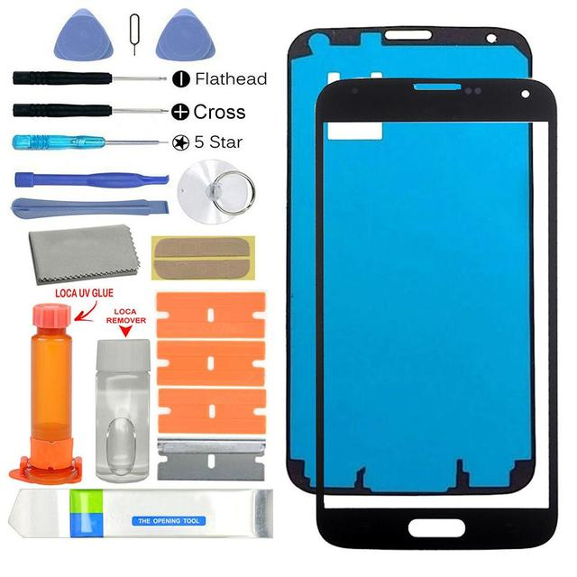 newest 440e1 52a88 US $12.63 19% OFF|Front Glass Screen UV Glue Replacement Parts Kit for  Samsung Galaxy S5 G900 Phone Accessories-in Mobile Phone Touch Panel from  ...