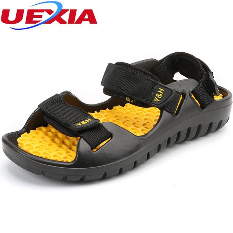 Rubber bottom Massage Sandals Massage Brand Luxury Men Summer Beach Clogs Hole Breathable Outdoor Water Shoes