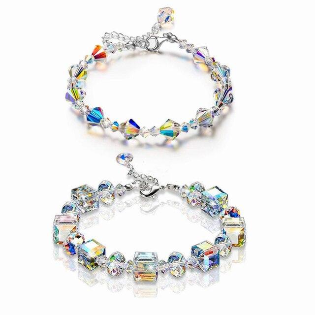 Exquisite Aurora Crystals Bracelet  5