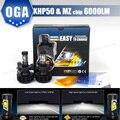 OGA 2 UNID 44 W 6000LM Para LUXEON MZ y chips de LED CREE LLEVÓ la Linterna Del Coche Kit H4 HB2 9003 H7 H8 H9 H11 H13 9004 9005 HB3 HB4 9006 9007