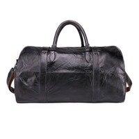 Мужская Дорожная сумка из натуральной кожи, ручная сумка для багажа, дорожная сумка, сумка на плечо, спортивный чемодан, большая сумка на вых