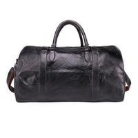 Genuine Leather Men's Travel Bag Hand Luggage Duffle Bag Packing Cubes Shoulder Sports Suitcase Big Tote Weekend Bag Reisetasche