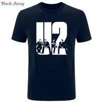2019 Новый U2 летом с коротким рукавом Для мужчин футболка Повседневное хлопковая Футболка модная футболка Для мужчин с круглым вырезом футбо...