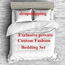 3D постельное бельё наволочки с принтом набор пододеяльников для пуховых одеял комплект Твин queen King Размеры настроить дропшиппинг