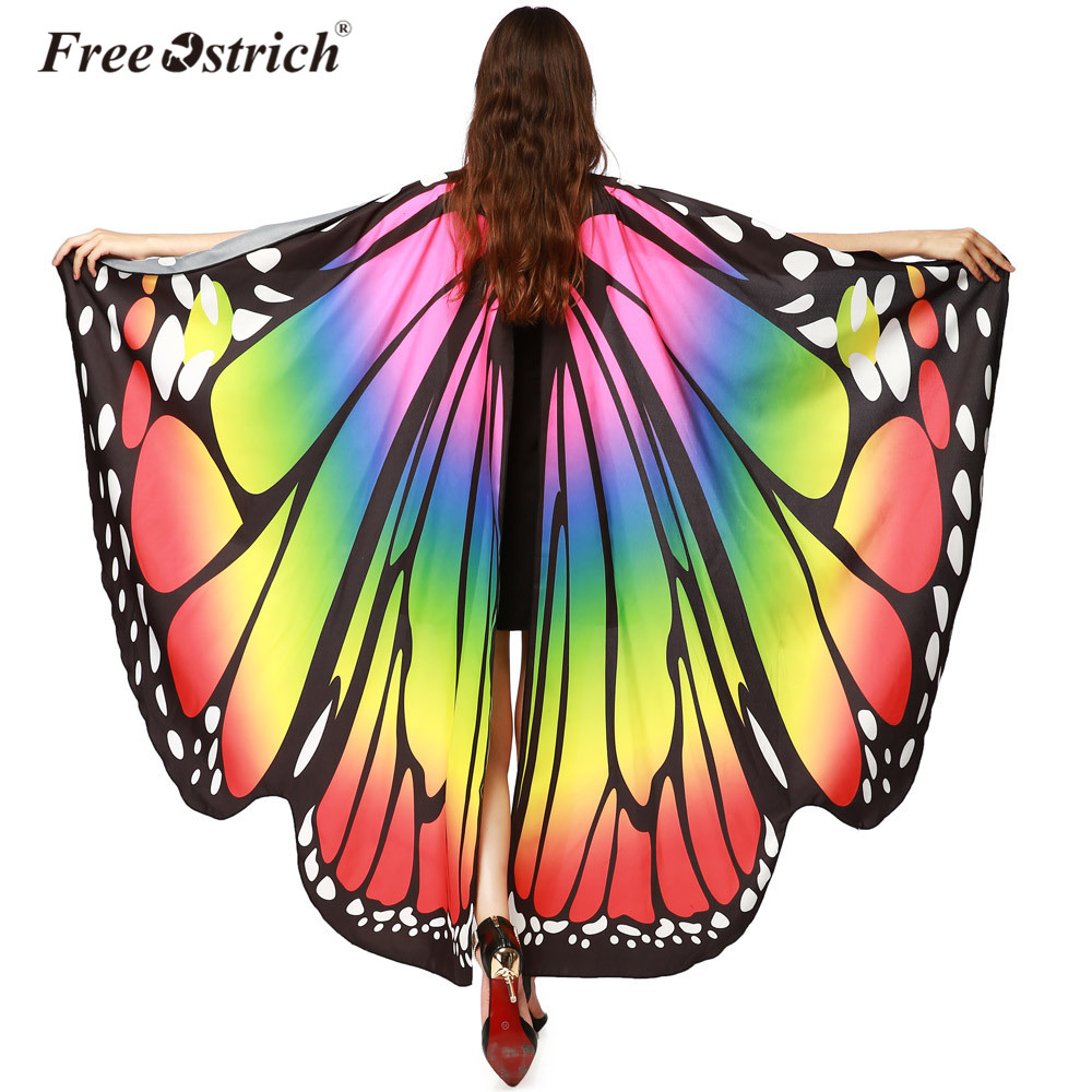 Free Ostrich 2018 Women Pashmina Soft Fabric Female Butterfly Wings Shawl Scarves Ladies ...
