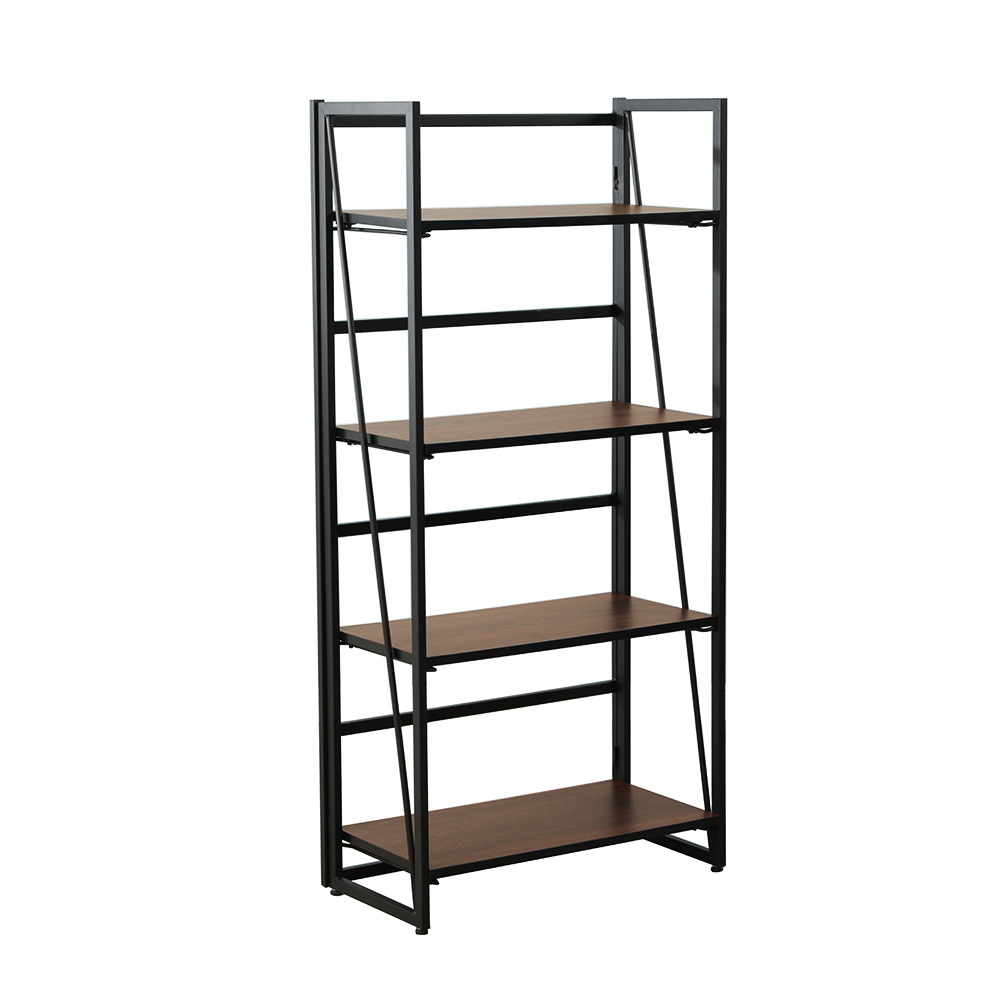 4 Tiers Multipurpose Foldable Bookcase Storage Shelve Bookshelf Storage Shelve For Books Children Book Rack Bookcase For Home