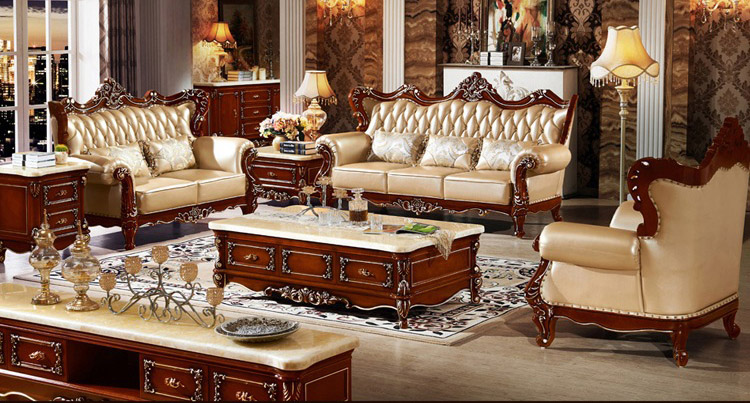 European Style Sofa The Size Of Apartment Living Room Leather Cow Pipi Arts Villa Newest Big In Sofas From