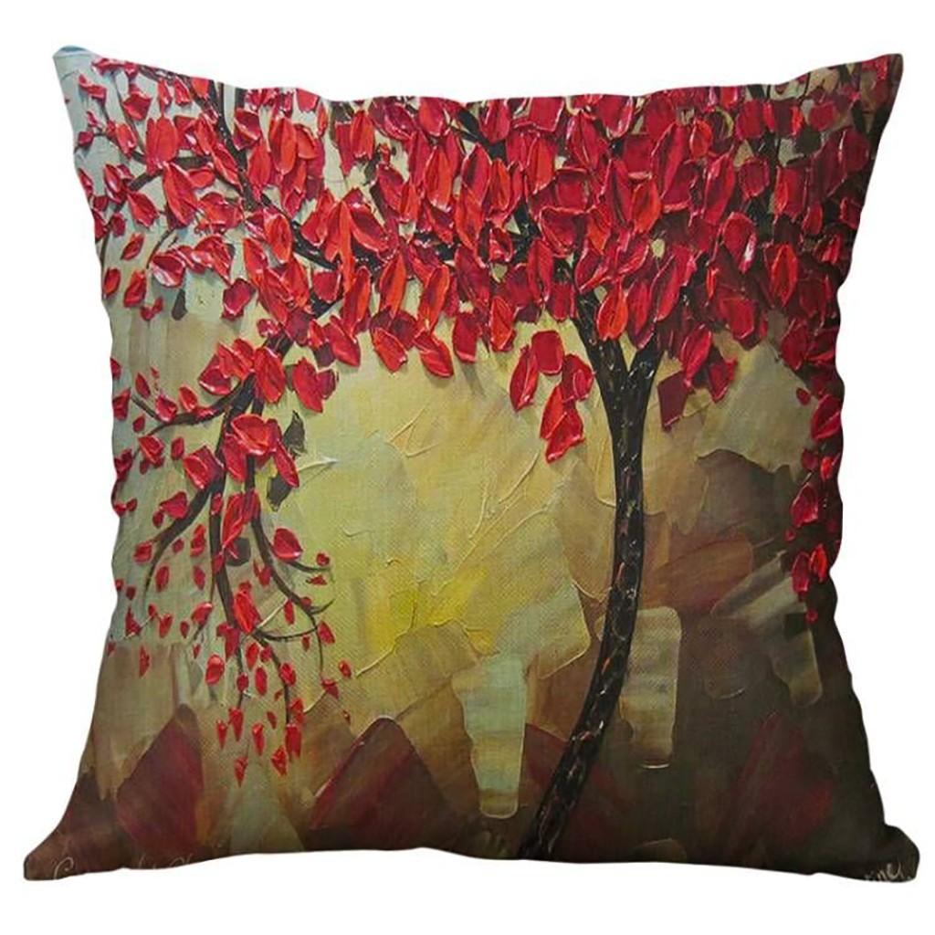 Image 5 - Simple Linen Creative Lovely Pillow Cover Car Pillow Covers Square 45cm*45cm Polyester Pillowcase Home Decorative High Quality-in Cushion Cover from Home & Garden