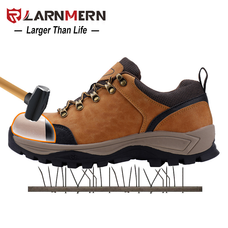 LARNMERN Men Work Safety Shoes Steel Toe Caps Anti-smashing Security shoes Breathable Combat Boots Anti-slip Working FootwearLARNMERN Men Work Safety Shoes Steel Toe Caps Anti-smashing Security shoes Breathable Combat Boots Anti-slip Working Footwear