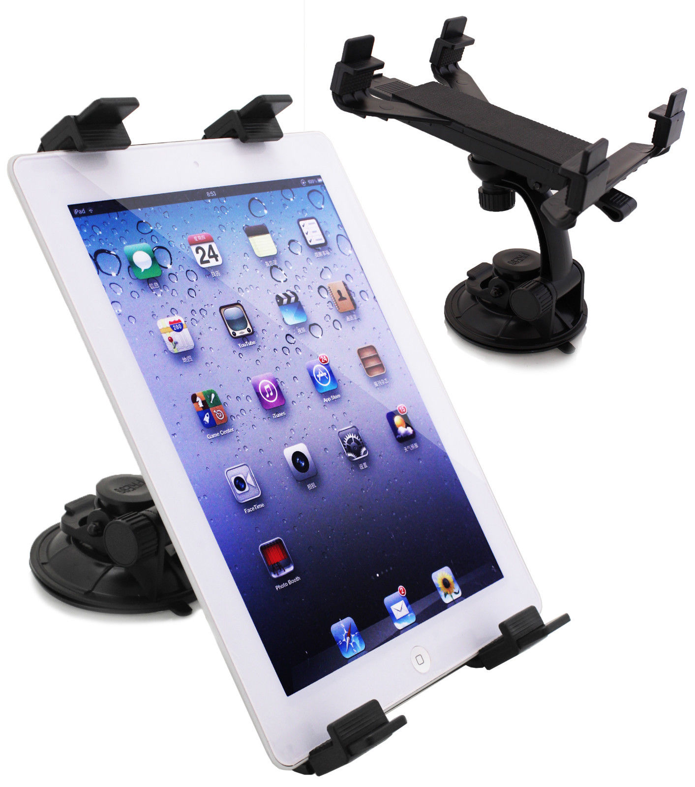 Apple /& Tablet PC for Car Windscreen Suction Mount Holder 360° Bracket for IPad