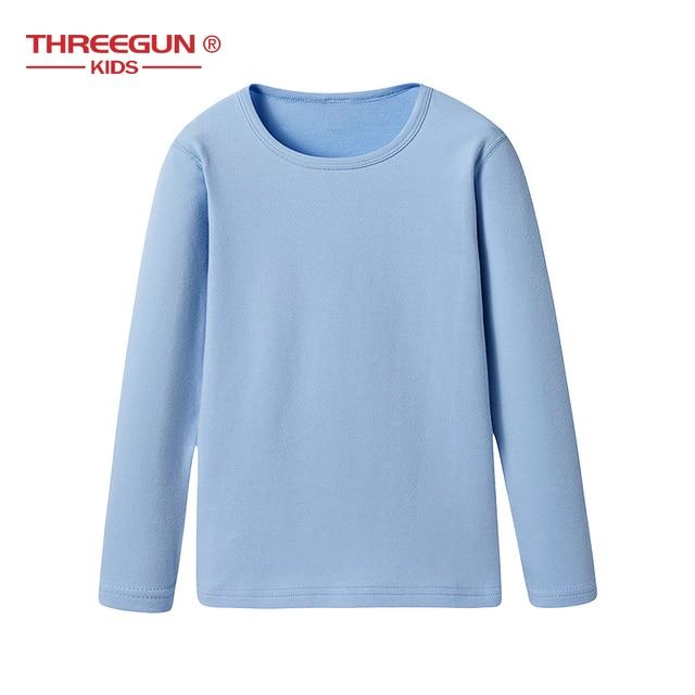 7545eece Kids Thermal Underwear Boys Girls Cotton Soft Long Johns Winter Warm O-Neck  Solid Baby Pyjamas Nightwear Children 3-14 Years
