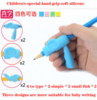 Hold Pen Orthotics Young Children Elementary School Students With Correct Grip Pen Pencil Writing Posture Silica