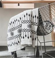 130X160 CM New Knit hình học chăn mền khăn bông mềm Black & white sofa bìa nhà mùa hè sử dụng bán buôn FG813